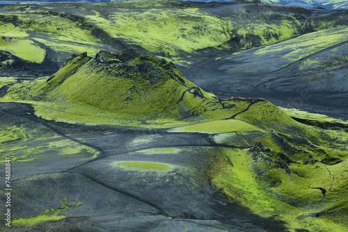Volcanic landscape in Lakagigar - 74688841