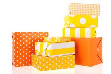Yellow and orange gifts