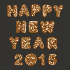 Ginger cookies - Happy New Year 2015