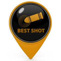 Best shot pointer icon on white background