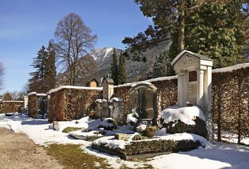 Cemetery Partenkirchen in Garmisch-Partenkirchen. Bavaria