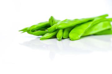 Grüne flache Bohnen