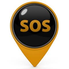 SOS pointer icon on white background