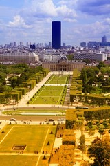 Paris - Champ de Mars. Filtered color tone.