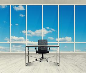 workplace in light office