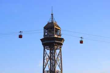 Tower cableway