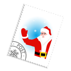 Postage stamp with Santa Claus