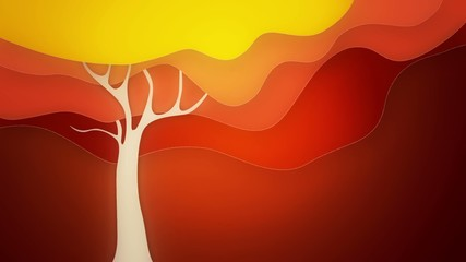 autumn tree graphic loop