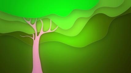 spring tree graphic loop