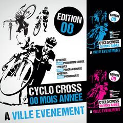affiche course cyclo cross vtt cycliste velo