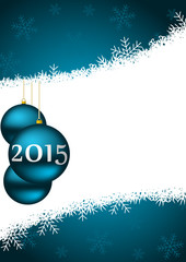 2015 new years vector illustration with christmas ball
