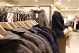 Luxury and fashionable clothes shop - winter collection