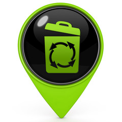 recycle pointer icon on white background