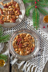 Sugared and rum glazed nuts
