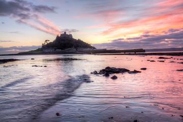 St Michaels Mount Sunset