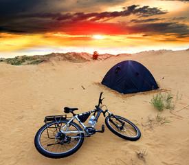 bike in tourist camp