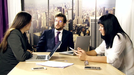 Business meeting in office in New York