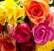 Obrazy na płótnie, fototapety, zdjęcia, fotoobrazy drukowane : bouquet of colorful  roses