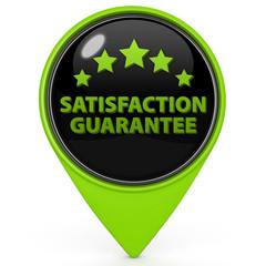 Satisfaction pointer icon on white background