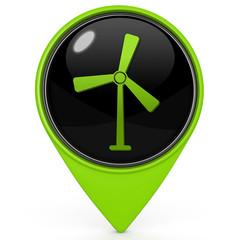 Turbine pointer icon on white background