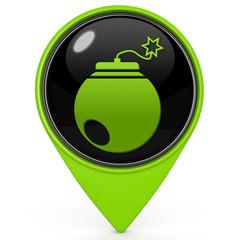 Bomb pointer icon on white background