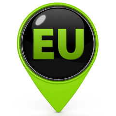 EU pointer icon on white background
