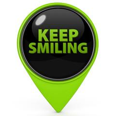 Keep smiling pointer icon on white background