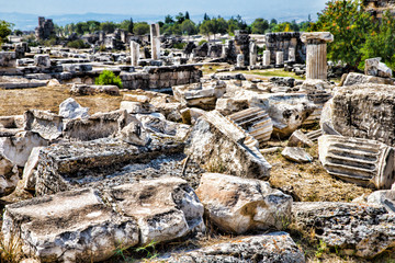 Ruins of theater in ancient Hierapolis
