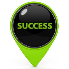 Success pointer icon on white background