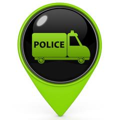 Police pointer icon on white background
