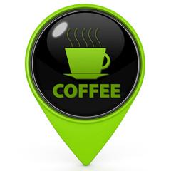 Coffee pointer icon on white background