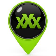 XXX pointer icon on white background