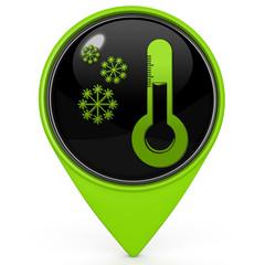 Snow pointer icon on white background