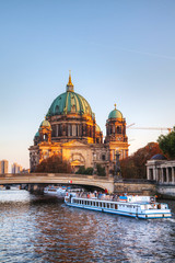 Berliner Dom cathedral in the evening