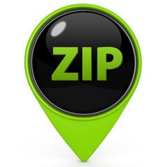 ZIP pointer icon on white background