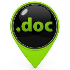 .doc pointer icon on white background