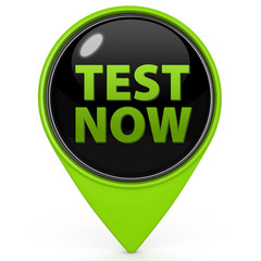 Test now pointer icon on white background