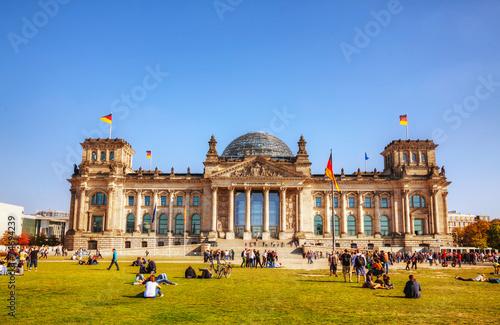 Reichstag building in Berlin, Germany - 74694239