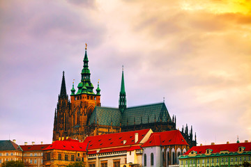 The Prague castle close up