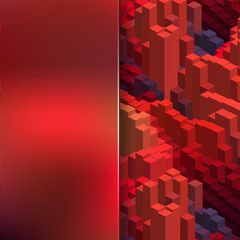 abstract background consisting of cubes and matt glass