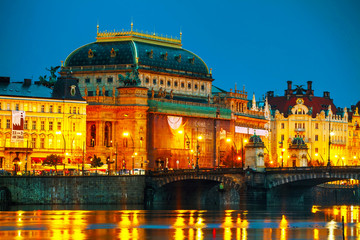 The National Theatre (Narodni divadlo) in Prague