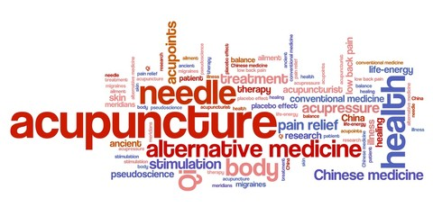 Acupuncture - word cloud illustration