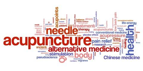 Acupuncture - word cloud illustration