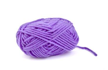 Skein of purple wool