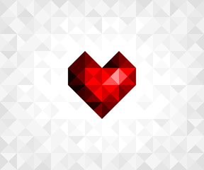 Vector heart on background for your design