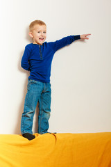 boy child preschooler playing at home