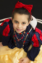 Portrait of girl wearing a princess costume
