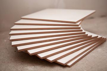 Ceramic tiles in the stack