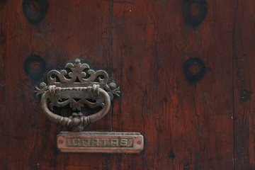 Knock for entry on a Majorcan door