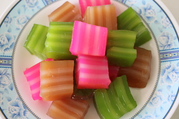 Thai Sweets of colorful.
